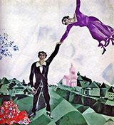 The Promenade. 1917 By Marc Chagall