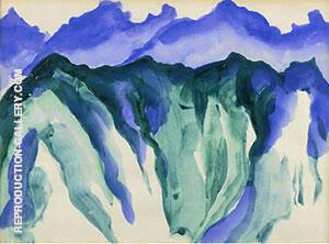 Machu Pichy Peruvian Landscape By Georgia O'Keeffe