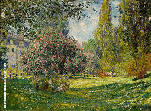 The Parc Monceau By Claude Monet