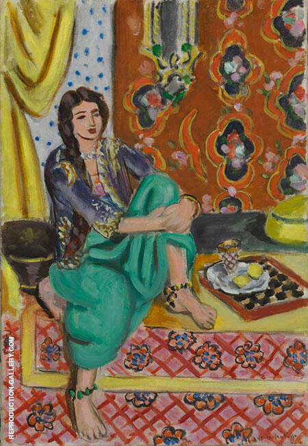 Seated Odalisque Painting By Henri Matisse - Reproduction Gallery