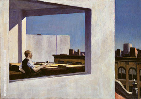 Office in Small City 1953 Painting By Edward Hopper - Reproduction Gallery