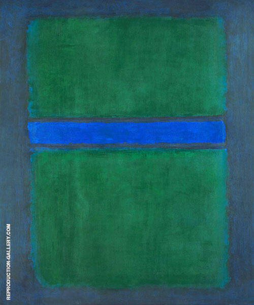 Untitled 582 Green over Blue 1957 Painting By Mark Rothko