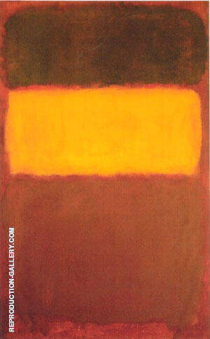 No 7 Orange and Chocolate Painting By Mark Rothko - Reproduction Gallery
