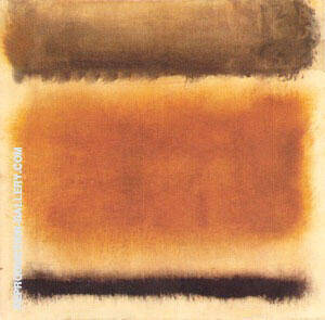 Untitled 1958 Coffee and Cinnamon By Mark Rothko Replica Paintings on Canvas - Reproduction Gallery