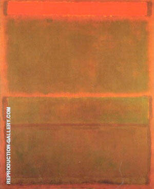 No 14 No 9 Red Over Three Browns By Mark Rothko Replica Paintings on Canvas - Reproduction Gallery