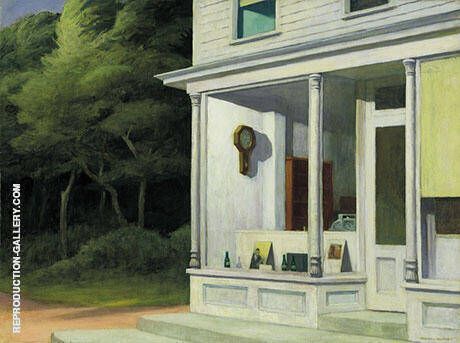 Seven a.m. By Edward Hopper - Oil Paintings & Art Reproductions - Reproduction Gallery