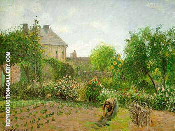 Artist`s Garden at Eragny By Camille Pissarro - Oil Paintings & Art Reproductions - Reproduction Gallery