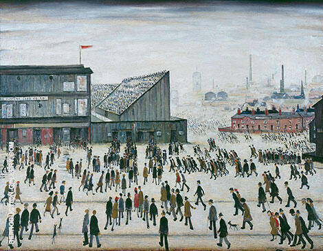 Reproduction of The Football Match by L-S-Lowry | Oil Painting Replica On CanvasReproduction Gallery
