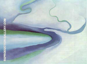 It was Blue and Green 1960 By Georgia O'Keeffe - Oil Paintings & Art Reproductions - Reproduction Gallery