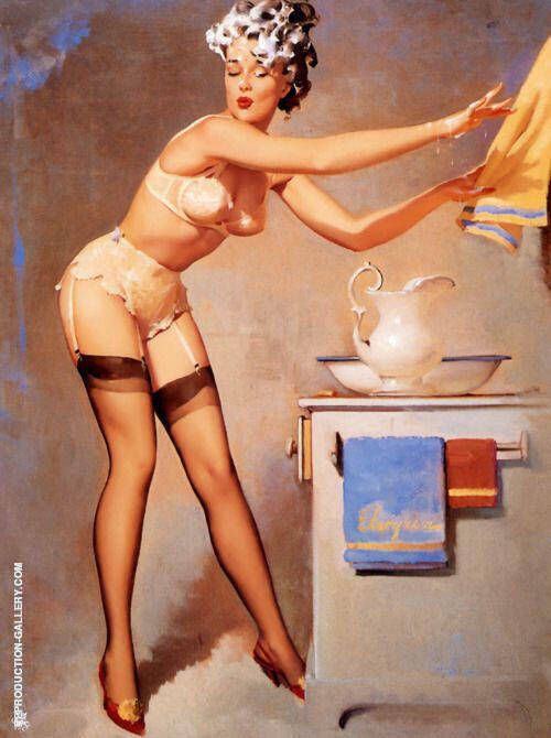 Eyecatcher 1965 Painting By Pin Ups - Reproduction Gallery