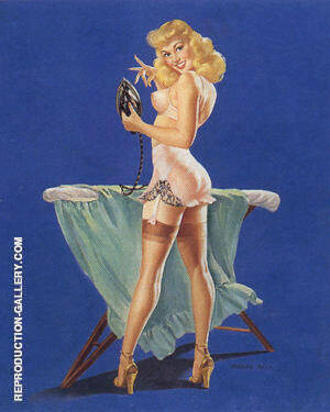 A Pressing Need 1945 Painting By Pin Ups - Reproduction Gallery