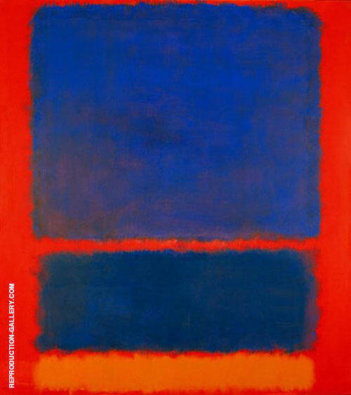 Blue Orange Red 1961 Painting By Mark Rothko - Reproduction Gallery