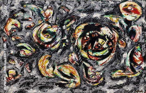 Reproduction of Ocean Greyness 1954 by Jackson Pollock | Oil Painting Replica On CanvasReproduction Gallery