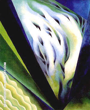 Blue and Green Music 1919 Painting By Georgia O'Keeffe
