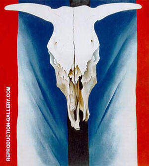 Cows Skull Red White and Blue 1931 Painting By Georgia O'Keeffe