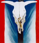 Cows Skull Red White and Blue 1931 By Georgia O'Keeffe