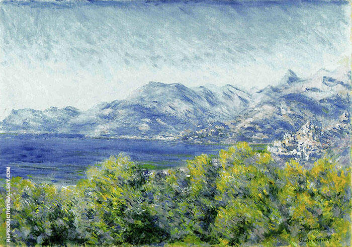 View of Ventimiglia 1884 Painting By Claude Monet - Reproduction Gallery
