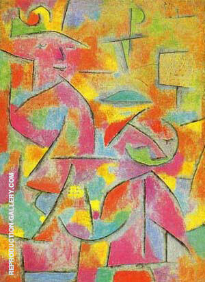 Reproduction of Aunt and Child by Paul Klee | Oil Painting Replica On CanvasReproduction Gallery