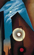New York with Moon 1925 By Georgia O'Keeffe