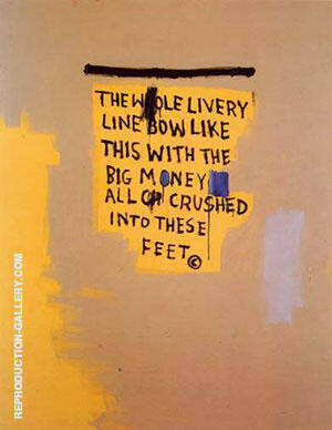 The Whole Livery Line 1987 Painting By Jean-Michel-Basquiat