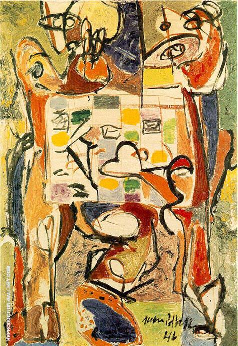 Teacup 1946 By Jackson Pollock