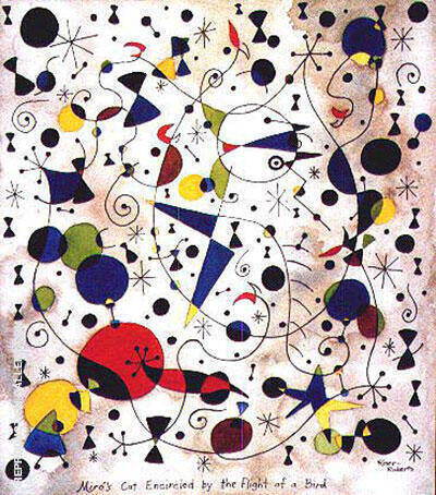 Frustrated Cat Painting By Joan Miro - Reproduction Gallery