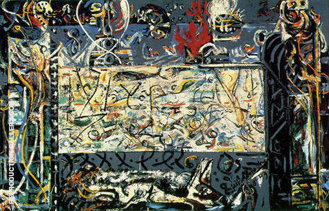 Guardians of the Secret By Jackson Pollock - Oil Paintings & Art Reproductions - Reproduction Gallery