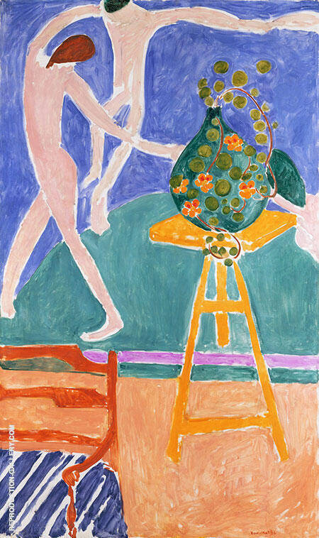 Vase of  Nasturtiums with Dance 1912 By Henri Matisse