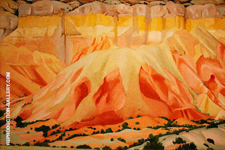 Reproduction of Red and Yellow Cliffs 1940 by Georgia O'Keeffe | Oil Painting Replica On CanvasReproduction Gallery
