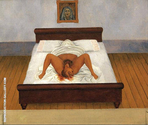 My Birth By Frida Kahlo Replica Paintings on Canvas - Reproduction Gallery