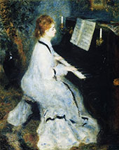 Lady at the Piano 1875 By Pierre Auguste Renoir