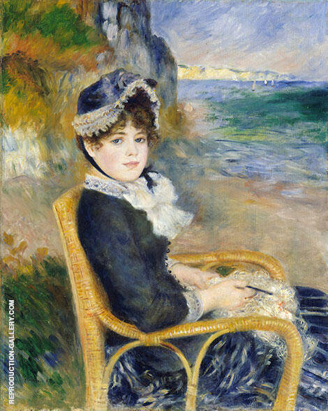 By the Seashore By Pierre Auguste Renoir - Oil Paintings & Art Reproductions - Reproduction Gallery