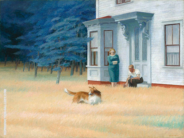 Cape Cod Evening Painting By Edward Hopper - Reproduction Gallery
