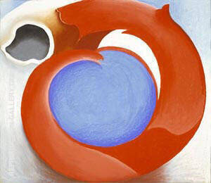 Goat's Horn with Red By Georgia O'Keeffe - Oil Paintings & Art Reproductions - Reproduction Gallery