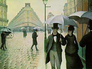 Paris Street Rainy Day 1877 By Gustave Caillebotte - Oil Paintings & Art Reproductions - Reproduction Gallery