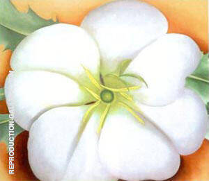 White Flower with Red Earth Painting By Georgia O'Keeffe