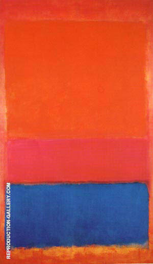 No 1 Untitled Royal Red and Blue 1954 Painting By Mark Rothko