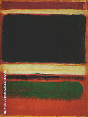 No 3 13 Magenta Black Green On Orange 1949 By Mark Rothko