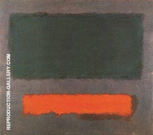 Grey Orange Maroon Painting By Mark Rothko - Reproduction Gallery