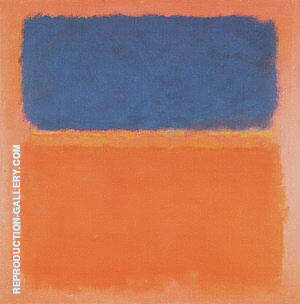 Reproduction of Blue Cloud by Mark Rothko | Oil Painting Replica On CanvasReproduction Gallery