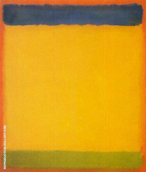 Untitled Blue Yellow Green On Red 1954 By Mark Rothko
