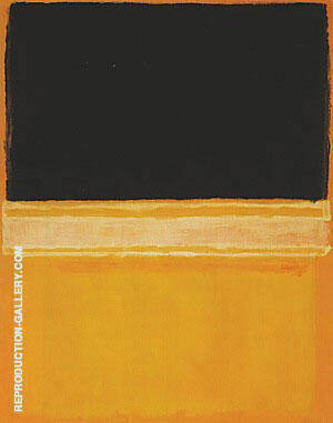 Black Pink Yellow Over Orange Painting By Mark Rothko