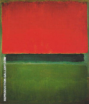 Red Dark Green Green 1952 By Mark Rothko