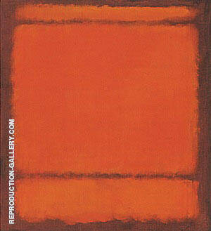 No 210 211 Orange By Mark Rothko