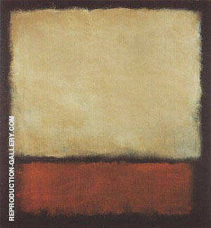 No 7 1963 Dark Brown Gray Orange By Mark Rothko