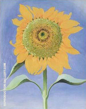 Reproduction of Sunflower, New Mexico by Georgia O'Keeffe | Oil Painting Replica On CanvasReproduction Gallery