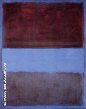 No 61 Brown Blue Brown on Blue 1953 Painting By Mark Rothko