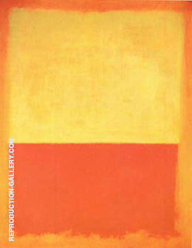 No 12 1954 Yellow Orange Red on Orange By Mark Rothko Replica Paintings on Canvas - Reproduction Gallery
