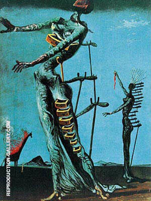 The Burning Giraffe 1937 By Salvador Dali - Oil Paintings & Art Reproductions - Reproduction Gallery