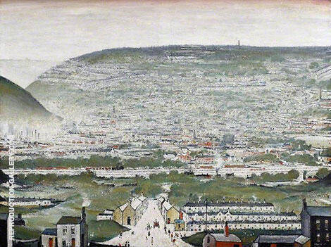 Ebbw Vale 1960 Painting By L-S-Lowry - Reproduction Gallery
